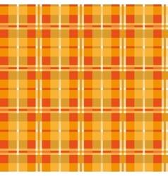 Orange seamless texture plaid vector image