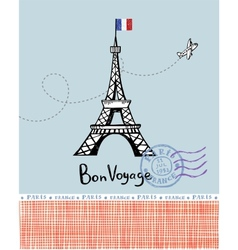 Paris post card vector