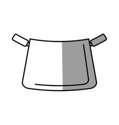 pot kitchenware metal cooking shadow vector image