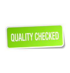 Quality checked vector