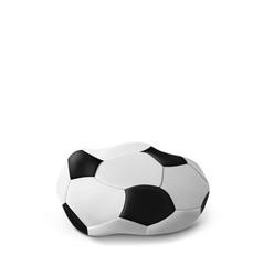 realistic deflated football soccer ball vector image