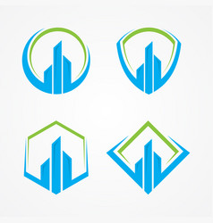realty or finance symbol vector image