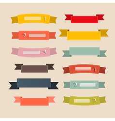Retro Ribbons Labels Tags Set vector image