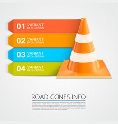 Road cones info cones info numbers vector