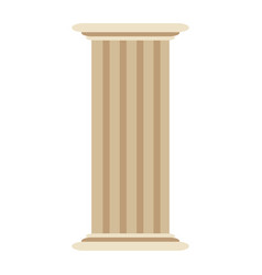 roman column antique architecture construction vector image