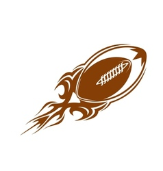 Rugby ball icon in brown vector