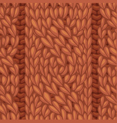seamless cable stitch pattern vector image