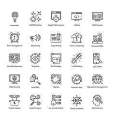Search engine and optimization pro icons vector