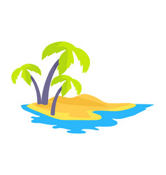 seashore coconut palm trees vector image
