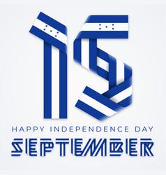 september 15 honduras independence day vector image