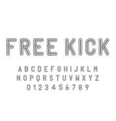 set alphabets font modern design with lines vector image