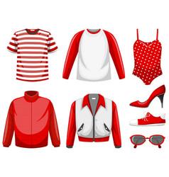 set clothes mock up vector image