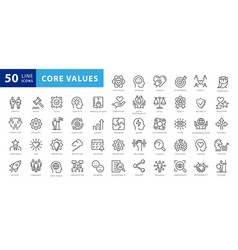 Set icons core values 29 images with editable vector
