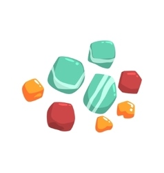 Set Of Semiprecious Blue Red And Orange Stones vector