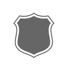 Shield shape icon gray label sign isolated on vector