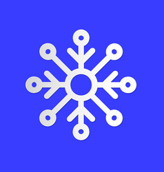 snowflake winter weather info icon snow flake vector image