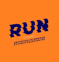 Sport style font design vector