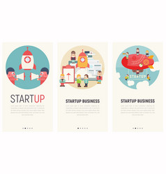 startup launch vector image