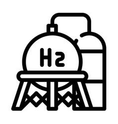 Storage hydrogen tank line icon vector