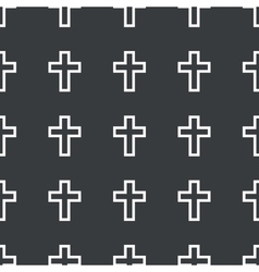 Straight black cross pattern vector