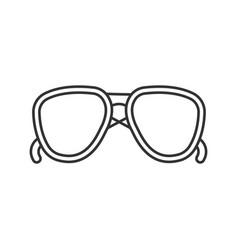 Sunglasses linear icon vector