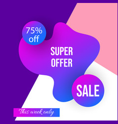 super sale banner set poster special offer vector image