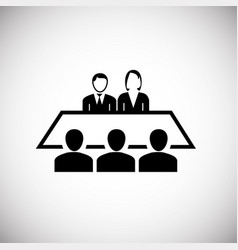 team meeting on white background vector image