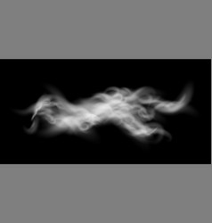 Transparent white fog vector
