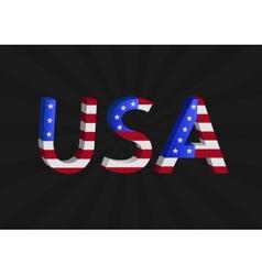 USA text vector image