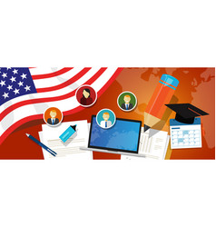 usa united states of america education school vector image vector image