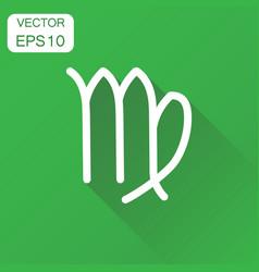 virgo zodiac sign icon business concept astrology vector image