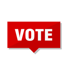 Vote red tag vector