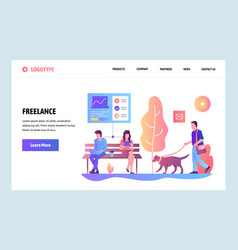 web site gradient design template vector image