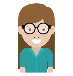 Woman with glasses design vector