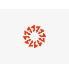 Abstract sun logo design template Geometric flash vector image