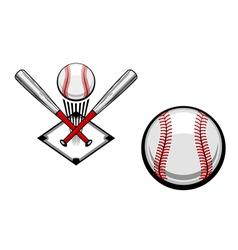 baseball emblems set for sports design or mascot vector image vector image