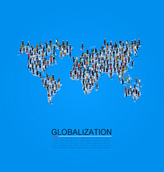 group of people making a earth planet shape vector image