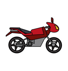 red motorcycle transport image vector image