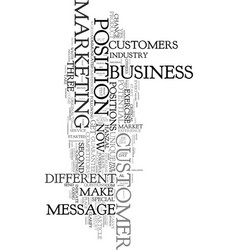 your business deserves a second chance text word vector image