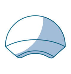 blue silhouette shading of sport cap headwear vector image vector image