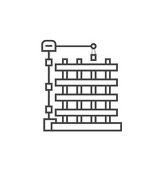 outline new building icon vector image vector image
