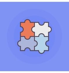 Puzzle flat icon vector