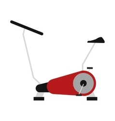 Spinning bike icon vector