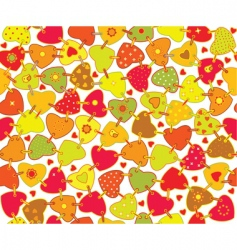 texture heart vector image vector image