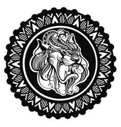 tigers logo vector image