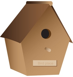 Wooden nest box vector image vector image