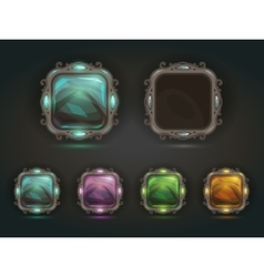 Beautiful magic shiny square buttons vector