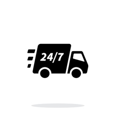 Delivery support seven days a week icon on white vector image vector image