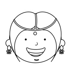hindu little girl character vector image vector image