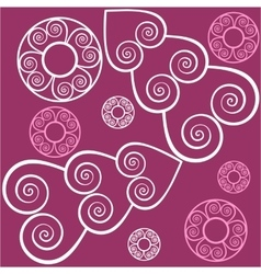 Seamless ornament in color 125 vector image